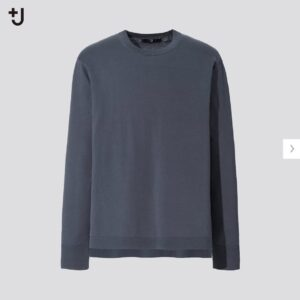 2021ssjシルクコットンクルーネックセーター無地のスタイル1