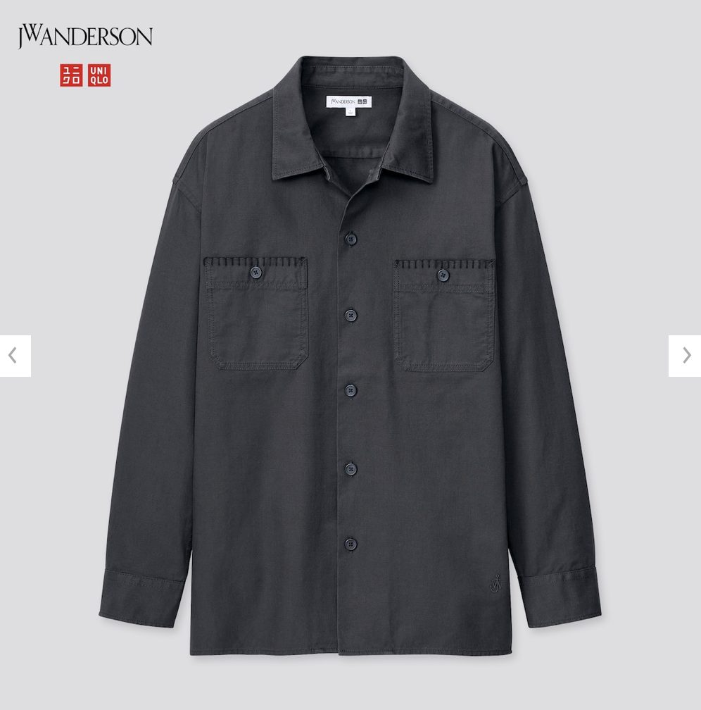 2021SSJWアンダーソンツイルオーバーサイズワークシャツのスタイル4