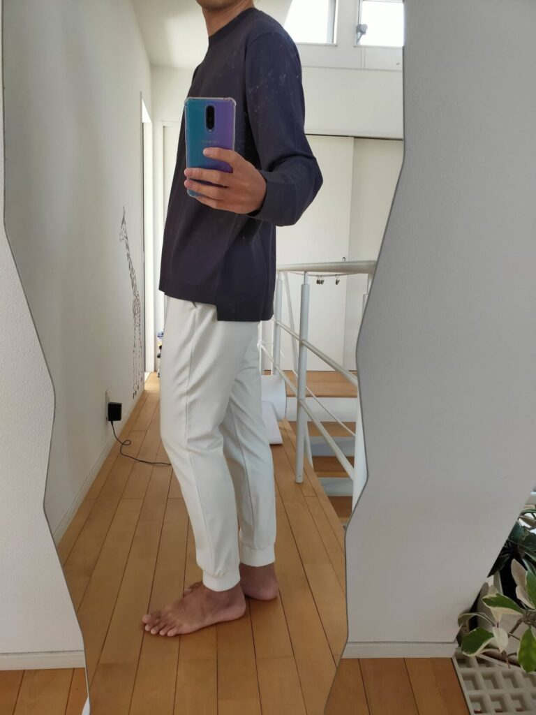 2021ssjシルクコットンクルーネックセーター無地のジョガー横