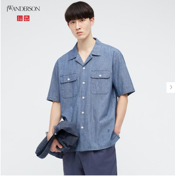 2021SSJWアンダーソンシャンブレーオーバーサイズワークシャツのスタイル3