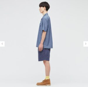 2021SSJWアンダーソンシャンブレーオーバーサイズワークシャツのスタイル2