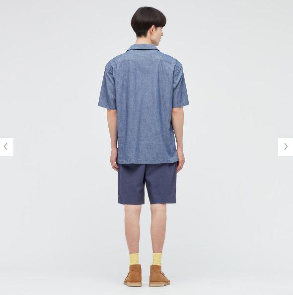 2021SSJWアンダーソンシャンブレーオーバーサイズワークシャツのスタイル1