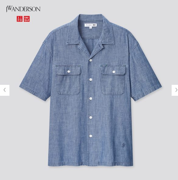 2021SSJWアンダーソンシャンブレーオーバーサイズワークシャツのスタイル4