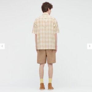 2021SSJWアンダーソンシアサッカーオーバーサイズチェックシャツのスタイル3