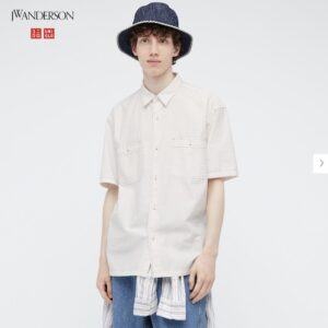 2021SSJWアンダーソンオーバーサイズチェックワークシャツのスタイル1