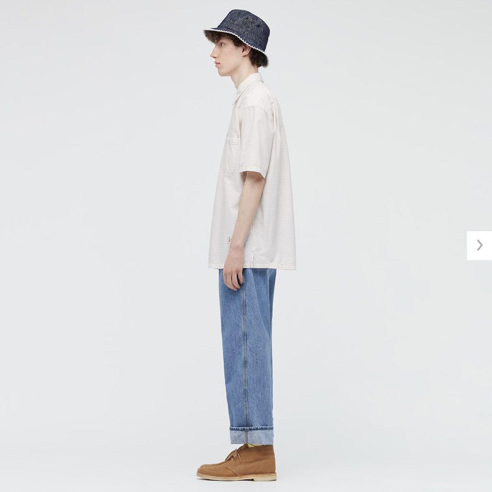 2021SSJWアンダーソンオーバーサイズチェックワークシャツのスタイル2