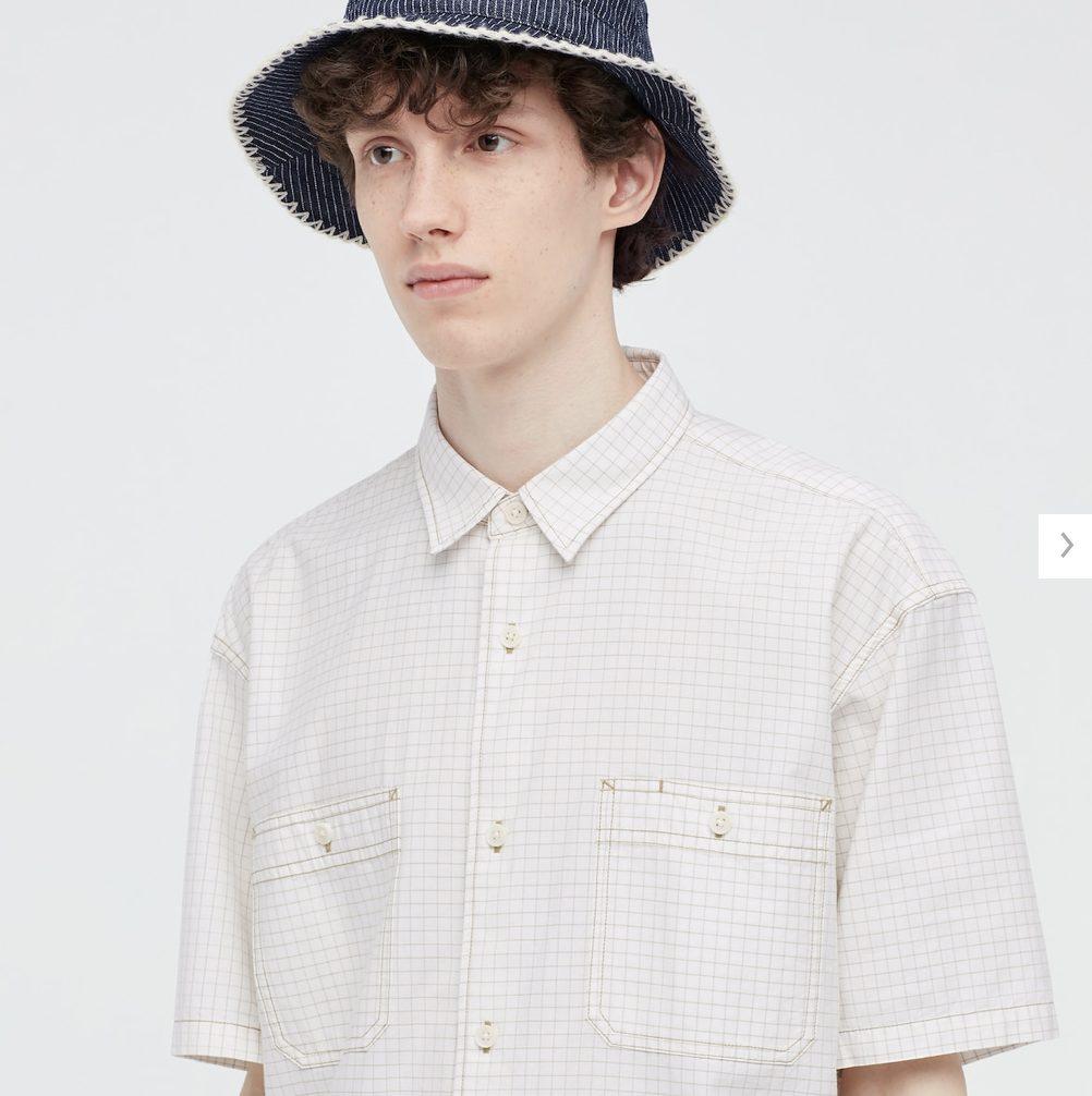 2021SSJWアンダーソンオーバーサイズチェックワークシャツのスタイル3