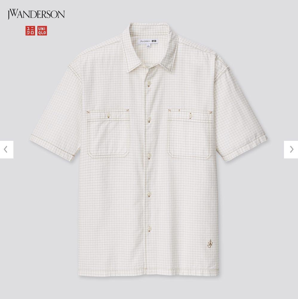 2021SSJWアンダーソンオーバーサイズチェックワークシャツのスタイル4