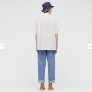 2021SSJWアンダーソンオーバーサイズチェックワークシャツのスタイル5