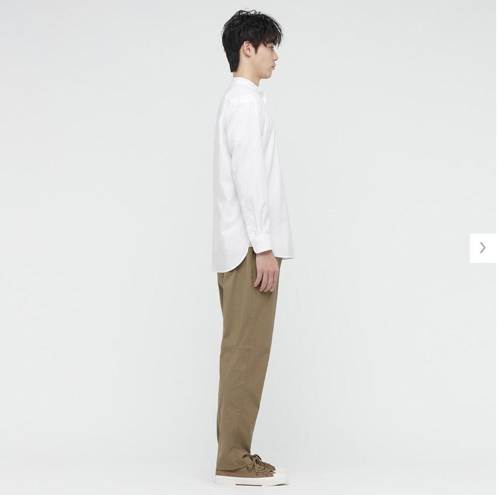 2021ssエクストラファインコットンブロード スタンドカラーシャツのスタイル2