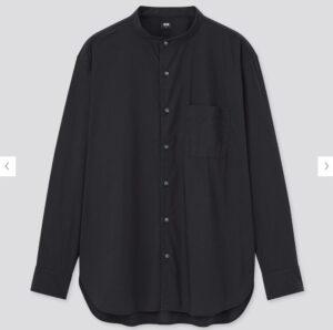 2021ssエクストラファインコットンブロード スタンドカラーシャツのスタイル3