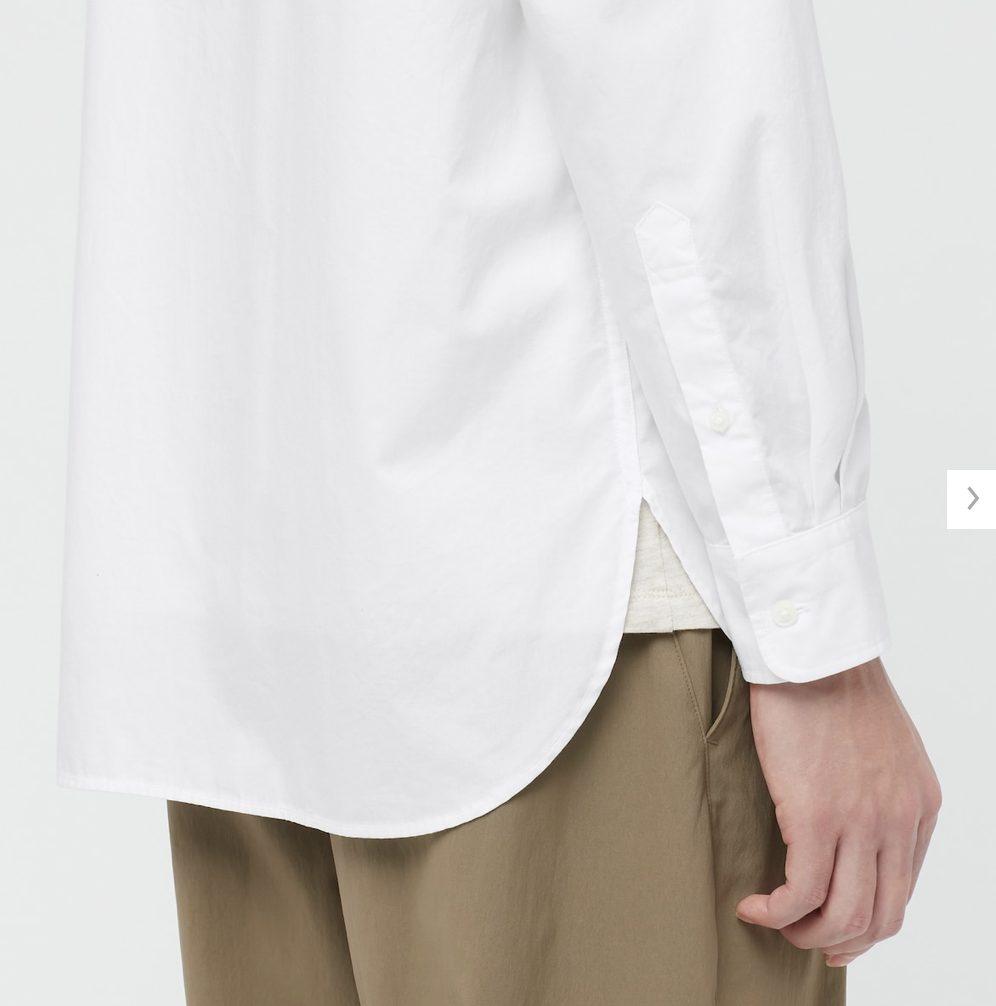 2021ssエクストラファインコットンブロード スタンドカラーシャツのスタイル4