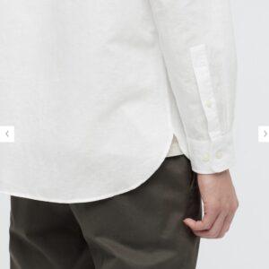 2021ssリネンコットンスタンドカラーシャツのスタイル5