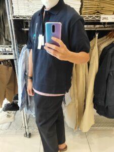 2021SSJWアンダーソンポロシャツのネイビーM横