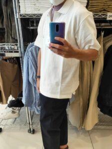 2021SSJWアンダーソンポロシャツのホワイトL横