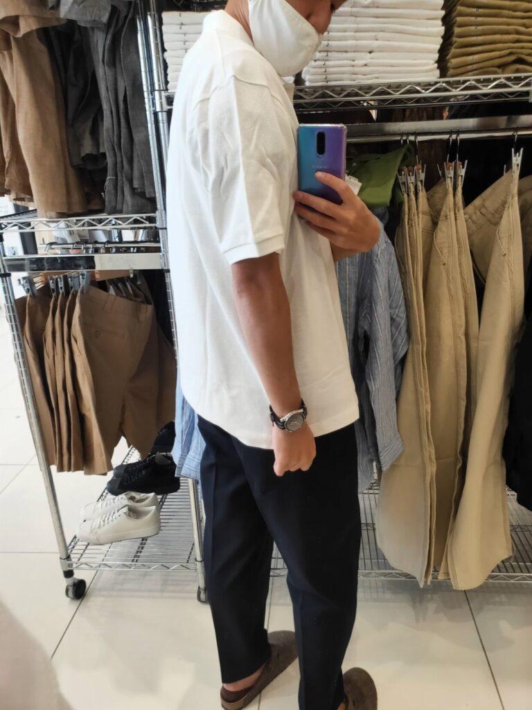 2021SSJWアンダーソンポロシャツのホワイトL後ろ