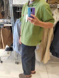 2021SSJWアンダーソンポロシャツのグリーンL横