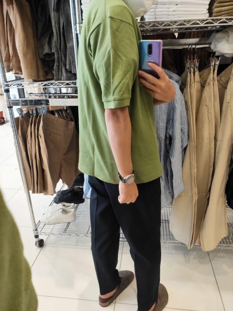 2021SSJWアンダーソンポロシャツのグリーンL後ろ