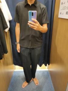 2021ssTheoryエアリズムスリムフィットフルオープンポロシャツのブラックM前