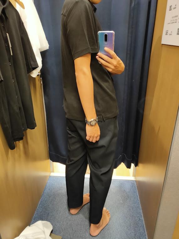 2021ssTheoryエアリズムスリムフィットフルオープンポロシャツのブラックM後ろ