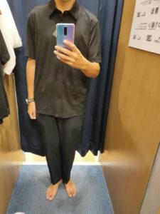 2021ssTheoryエアリズムスリムフィットフルオープンポロシャツのブラックL前