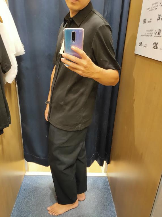 2021ssTheoryエアリズムスリムフィットフルオープンポロシャツのブラックL横