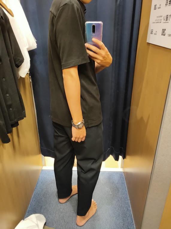 2021ssTheoryエアリズムスリムフィットフルオープンポロシャツのブラックL後ろ