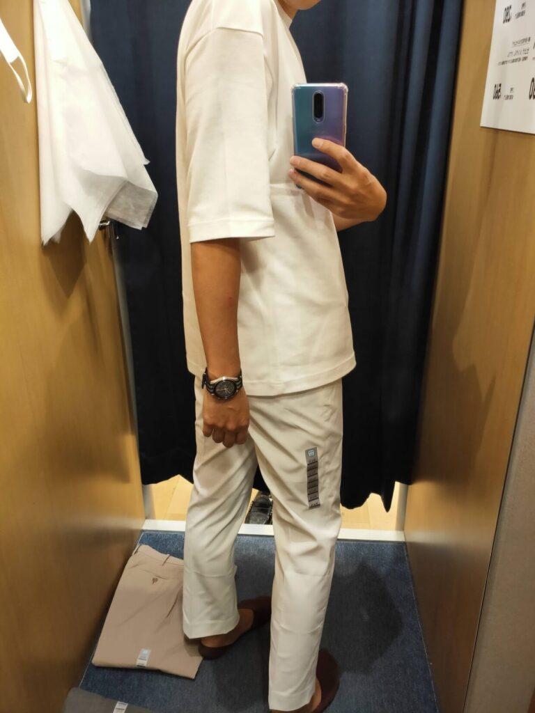 2021ssコットン感動パンツのホワイト79後ろ