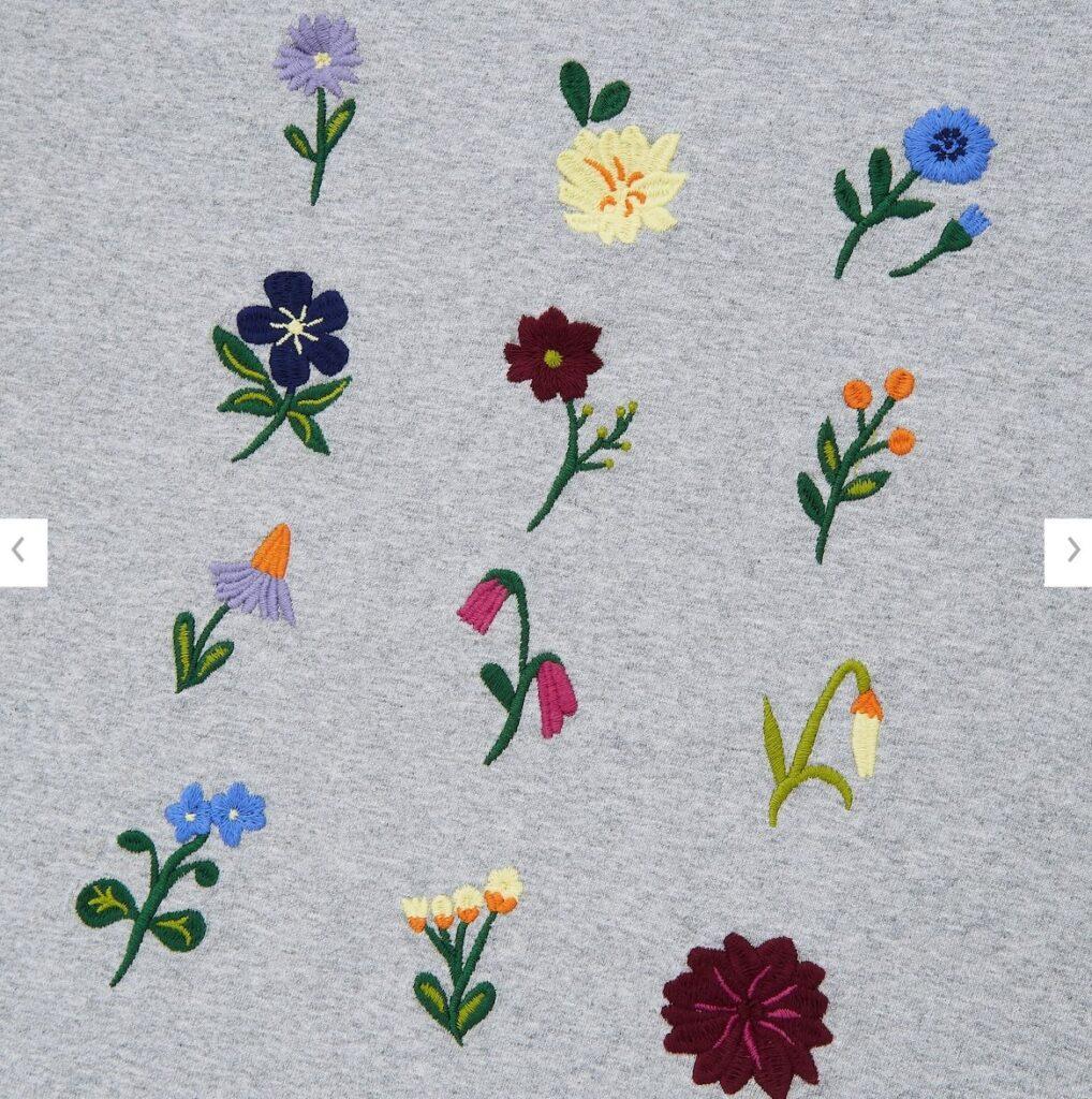 21SSJWアンダーソンクルーネックT花柄多いのスタイル3