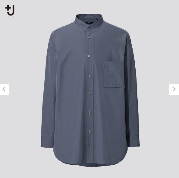 2021+Jスーピマコットンオーバーサイズスタンドカラーシャツのスタイル3