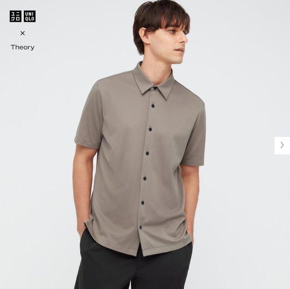2021ssTheoryエアリズムスリムフィットフルオープンポロシャツのスタイル5