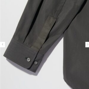 2021+Jスーピマコットンオーバーサイズスタンドカラーシャツのスタイル4