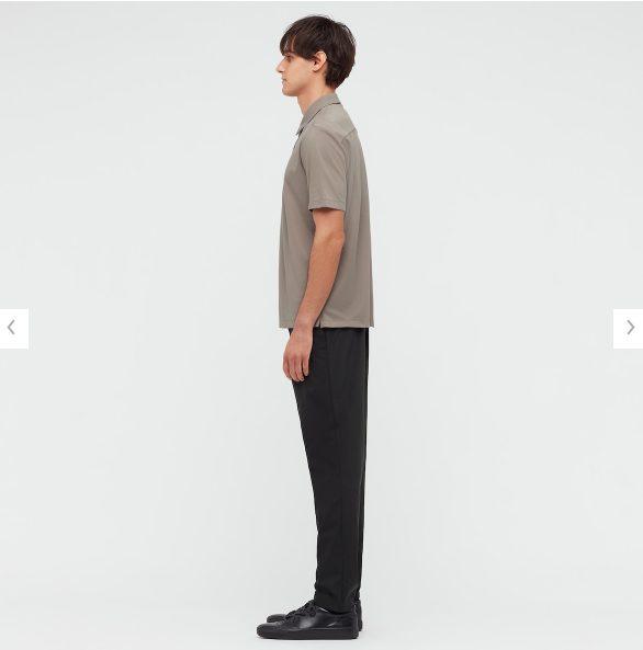 2021ssTheoryエアリズムスリムフィットフルオープンポロシャツのスタイル1