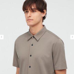 2021ssTheoryエアリズムスリムフィットフルオープンポロシャツのスタイル2
