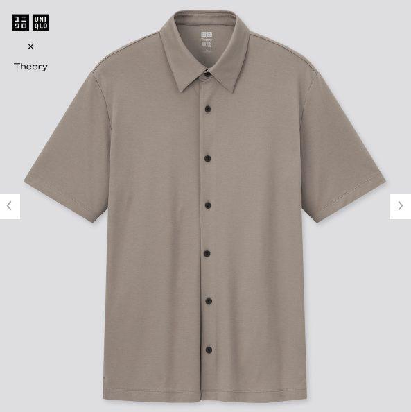 2021ssTheoryエアリズムスリムフィットフルオープンポロシャツのスタイル4