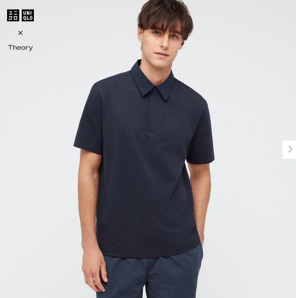 2021sstheoryエアリズムスリムフィットポロシャツのスタイル1