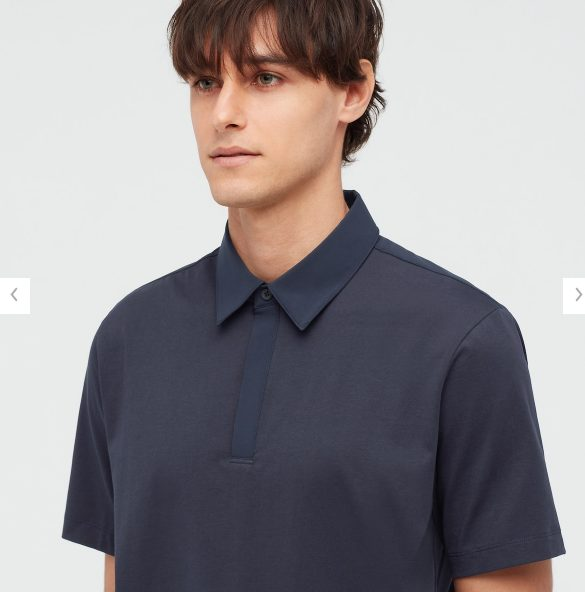 2021sstheoryエアリズムスリムフィットポロシャツのスタイル3