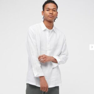 2021ssプレミアムリネンプルオーバーシャツのスタイル1