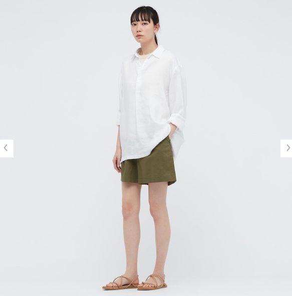 2021ssプレミアムリネンプルオーバーシャツのスタイル2