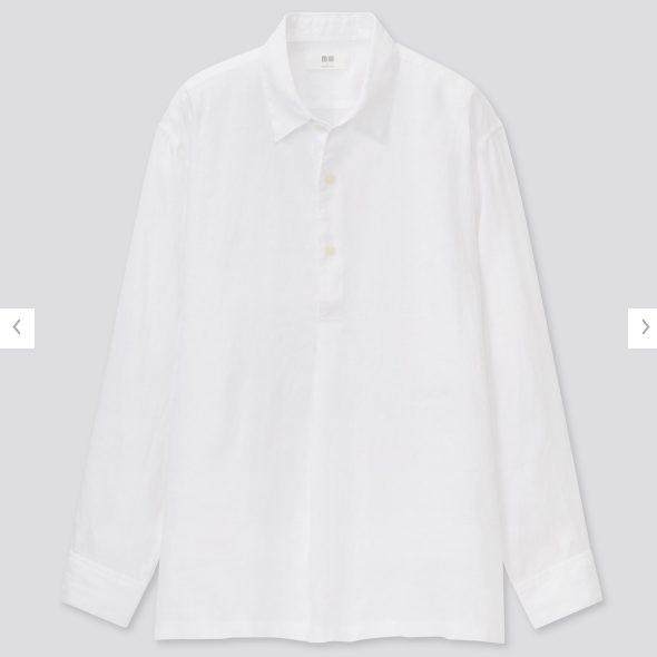 2021ssプレミアムリネンプルオーバーシャツのスタイル3