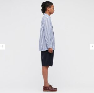2021ssプレミアムリネンストライププルオーバーシャツのスタイル1