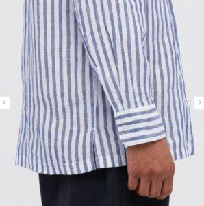 2021ssプレミアムリネンストライププルオーバーシャツのスタイル2