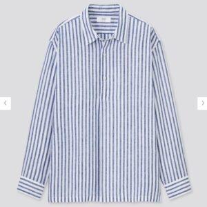 2021ssプレミアムリネンストライププルオーバーシャツのスタイル3