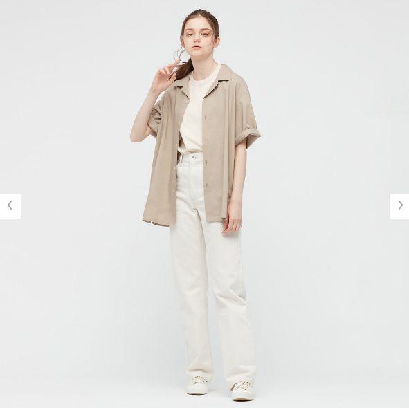 2021SSオープンカラーシャツのスタイル2