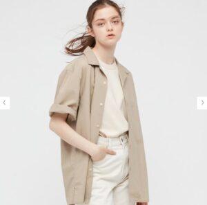 2021SSオープンカラーシャツのスタイル3