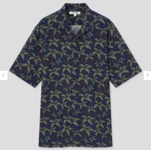 2021SSヘザー・ブラウン オープンカラーシャツのスタイル3