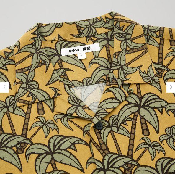 2021SSヘザー・ブラウン オープンカラーシャツのスタイル5