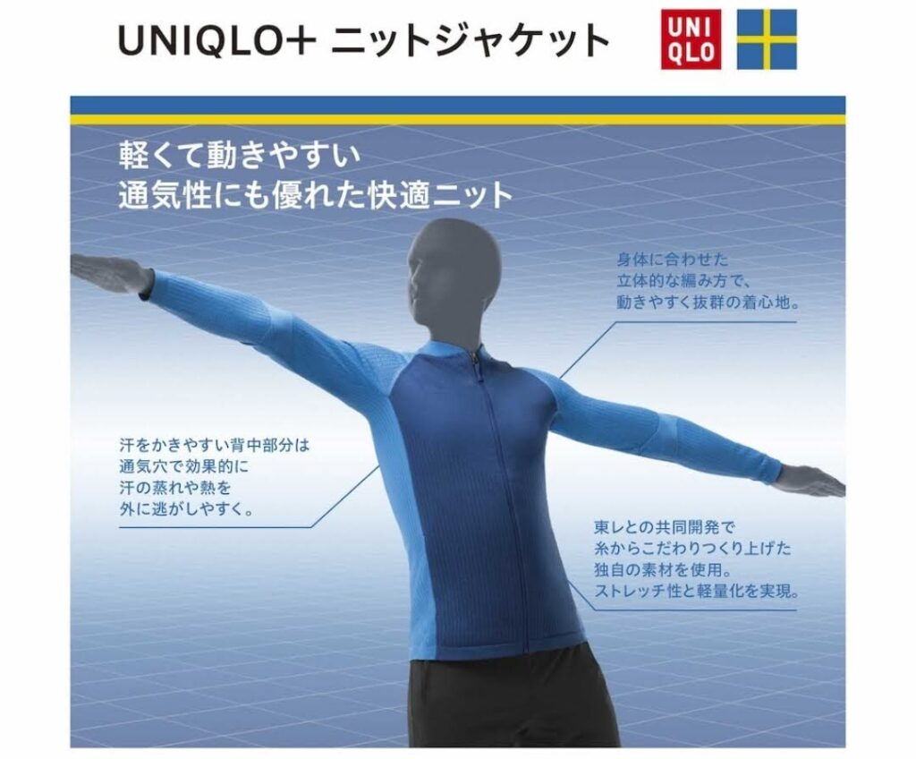 2021SSユニクロ+のニットジャケット1
