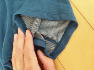 o5proのTシャツ見た目袖